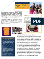 Northern Michigan Univ InterVarsity Ministry Update Aug-2016