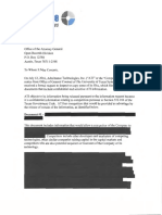 Exception Letter to AG - Redacted for Requestor