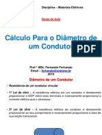 Calculo Para Diâmetro de Condutor
