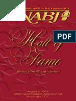 2016 NABJ Hall of Fame Program