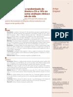 Estudo Peeling Acido Retinoico 5% e 10% No Tratamento Do Melasma