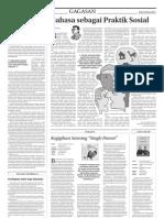 Bahasa Sebagai Praktik Sosial - Koran Jakarta 29 Mei 2010