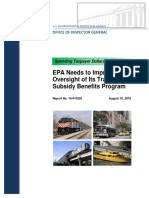 EPA Needs to Improve Oversight of Its Transit Subsidy Benefits Program