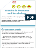 Aptis Introducción 3 (Grammar and Vocabulary)