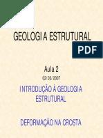 Introdução a Geologia Estrutural