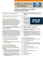 Policy Brief - 2. PINA Ley de Proteccion Integral-Guatemala 10.15