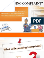 Expressing Complaint