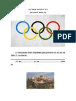 SEQUÊNCIA DIDÁTICA - Olimpíadas do Rio 2016