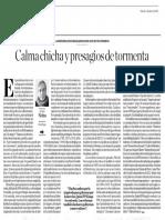 Calma Chica y Presagios de Tormenta, Hugo Neira