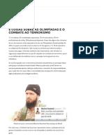 6 Coisas Sobre as Olimpíadas e o Combate Ao Terrorismo - Politize!