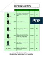 Ultrasonic Thickness Gauge Price List