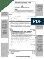 standard resume format