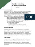 team one module 2 gap analysis strategy eportfolio