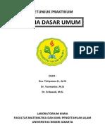 Petunjuk Praktikum Kimia Dasar Umum