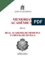 Memorias Académicas de La Real Academia de Medicina y Cirugía de Sevilla