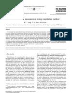Void Fraction Measurement Using Impedance Method