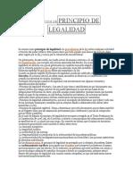 Definición Deprincipio de Legalidad