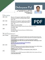 Resume of Debopam Pal