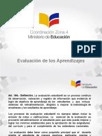 Evaluacion de Los Aprendizajes Ministerio de Educacion