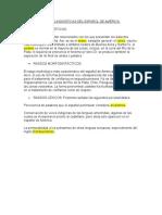 CARACTERÍSTICAS LINGÜÍSTICAS DEL ESPAÑOL DE AMÉRICA