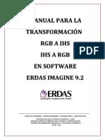 Manual Para Transformacion de Rgb a Ihs y de Ihs a Rgb
