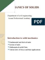 The basics of Mechanics of Solids