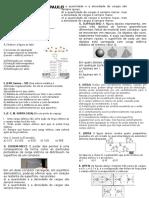Teste 3ºano - Equilibrio Eletrostático