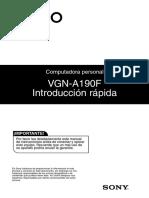 Guía de usuario Notebook Vaio VGN-A190F