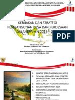 FGD Strategi Pembangunan Desa Dan Kawasan Perdesaan_BAPPEDA 21 Agt 15