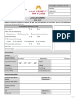 Application Form 2016-17 of AUW