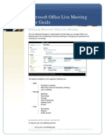 Live Meeting User Guide
