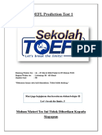 TOEFL Prediction Test 1