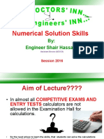Numerical Skills Lecture