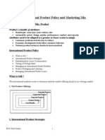 Int. Product Policy and Marketing Mix
