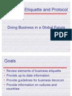 Presentation - Business Etiquette and Protocol
