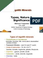 Regolith minerals