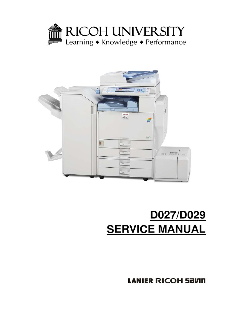 Ricoh Aficio MP C40, MP C40 Parts & Service Manual.pdf   Image ...