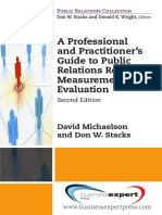 (2014 Digital Library._ Public Relations Collection) David Michaelson, Institute for Public Relations-A Professional and Practitioner's Guide to Public Relations Research, Measurement, And Evaluation,