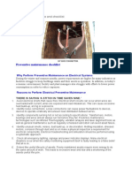 Electrical Preventive Maintenance and Checklist