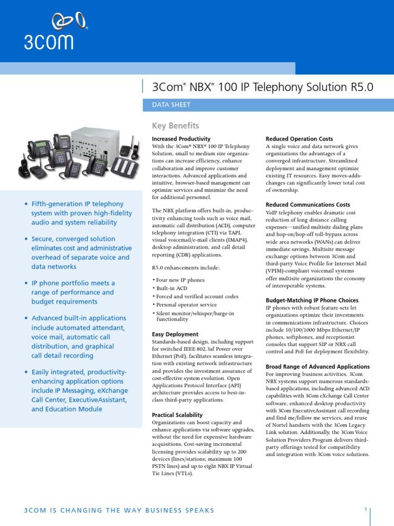 3com nbx call reports