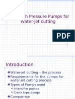High pressure pump for water jet cutting