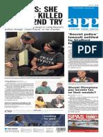 Asbury Park Press front page Thursday, Aug. 18 2016