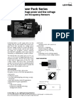 Data Sheet - Occupancy Sensors Power Pack (OSP, OSA)