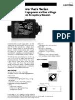 Data Sheet - Occupancy Sensors Power Pack (OSP, OSA)