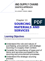 Coyle Chapter 13 SOURCING MATERIALS AND SERVICES 9e PowerPoint Slides