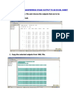 Procedure for Transfering Staad Output to an Excel Sheet