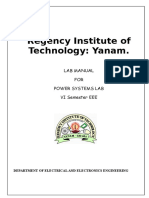 Power System Lab Manual