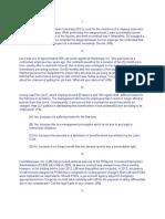 Sample Labor Law Bar Questions