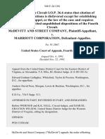 McDevitt and Street Company v. Marriott Corporation, 948 F.2d 1281, 4th Cir. (1991)