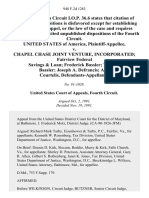 United States v. Chapel Chase Joint Venture, Incorporated Fairview Federal Savings & Loan Frederick Bassler Virginia Bassler Joseph A. Defrancis Alec Courtelis, 948 F.2d 1283, 4th Cir. (1991)